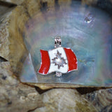 Canadian Pride Pearl Cage - Sterling Silver  #161