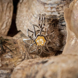 Sunflower Pearl Cage #107 - Sterling Silver