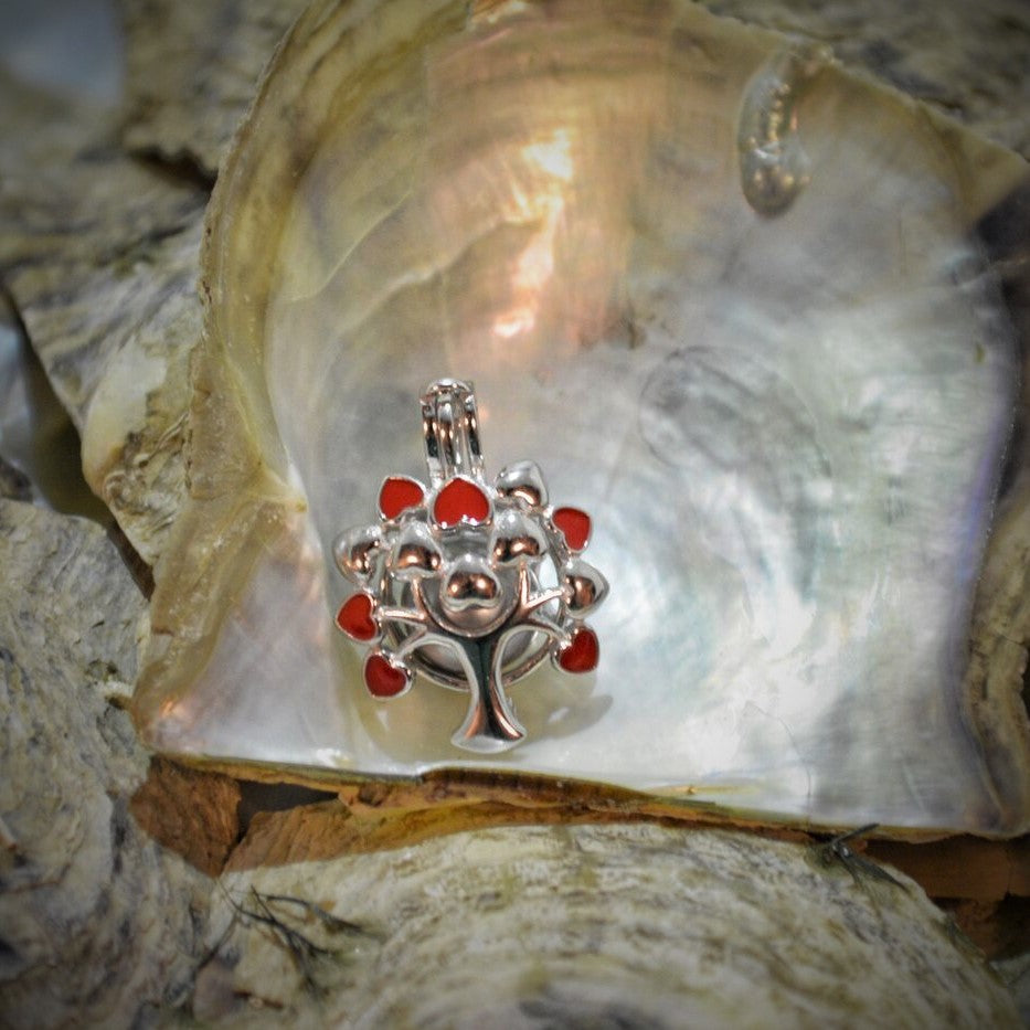 Tree of life Pearl Cage - Sterling Silver #143