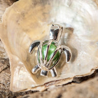 Turtle Pearl Cage - Sterling Silver #046