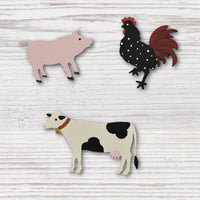 Roeda - Farm Animal set of 3 - R513