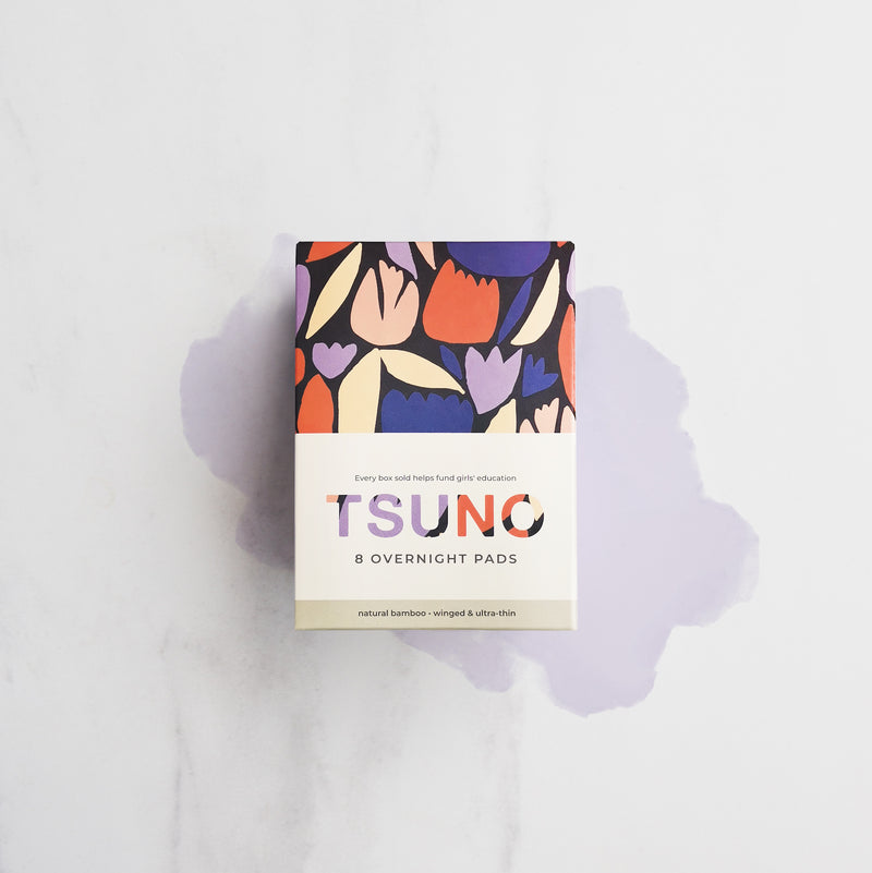 Tsuno Bambo Overnight Pads for Heavy Flow