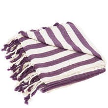 stripe purple beach towel