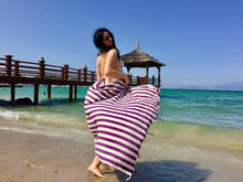 beach towel striped