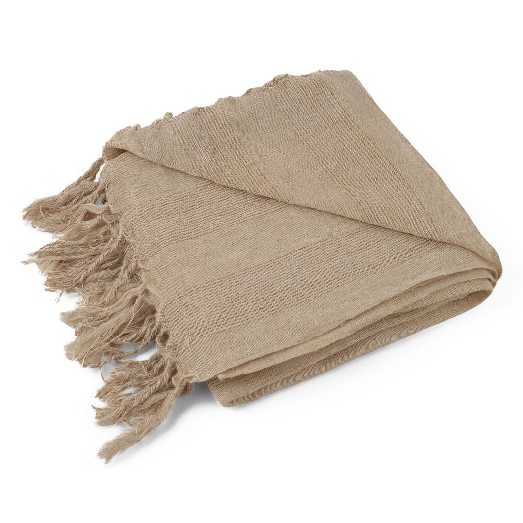 natural linen pestemal turkish towel