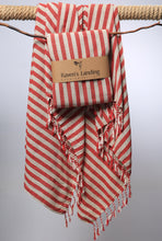 stripe rouge beach towel
