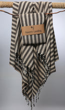 stripe charcoal beach towel
