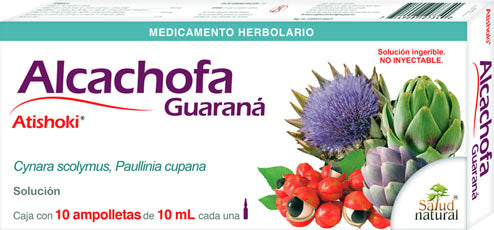 Artichoke GUARANA 10 Amp with 10 ml NATURAL HEALTH