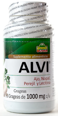 ALVI GARLIC PARSLEY CACTUS LECITINA 90 GRAGEAS PRONAT