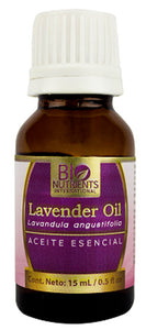 ESECENCIAL LAVENDER OIL 15 ML BIO NUTRIENTS