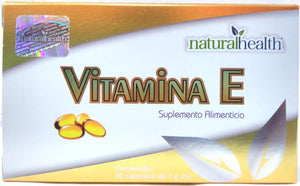 VITAMINA  E 500 30 PERLAS NATURAL HEALTH