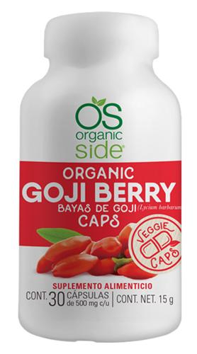 BAYAS GOJI BERRY 30 CAP ORGANIC SIDE