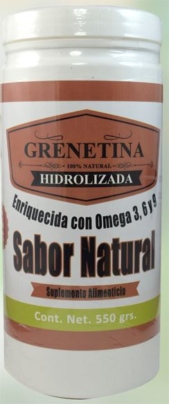 GRENETINA HIDROLIZADA NATURAL 550 G PRETTY BEE