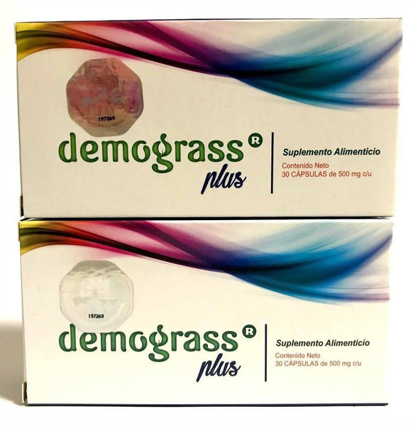 2 pack- Demograss Plus 60 Capsules Natural Dietary Supplement New Version EXP 2024