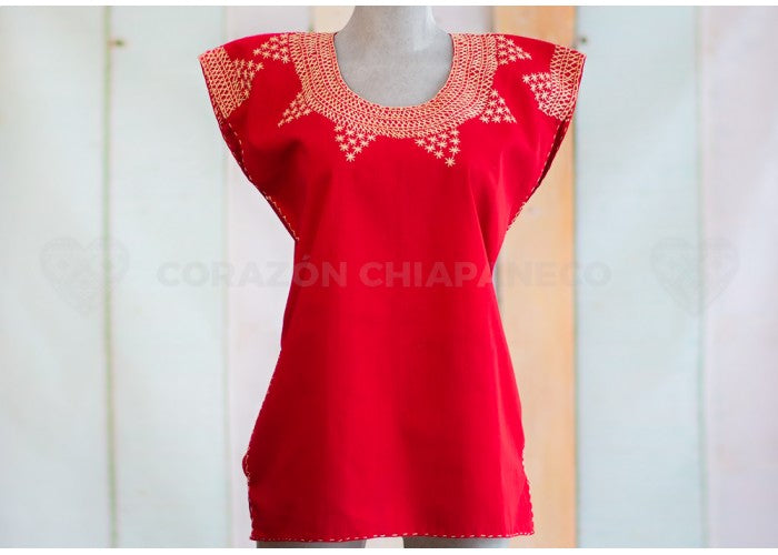 MANTA BLOUSE RED PITCH