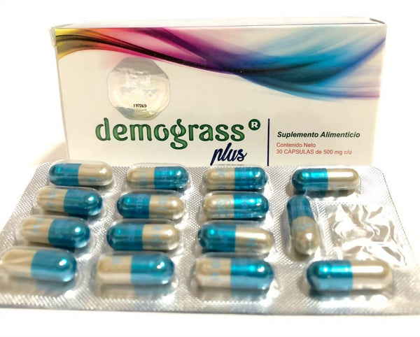 4 pack- Demograss Plus 120 Capsules Natural Dietary Supplement New Version EXP 2024