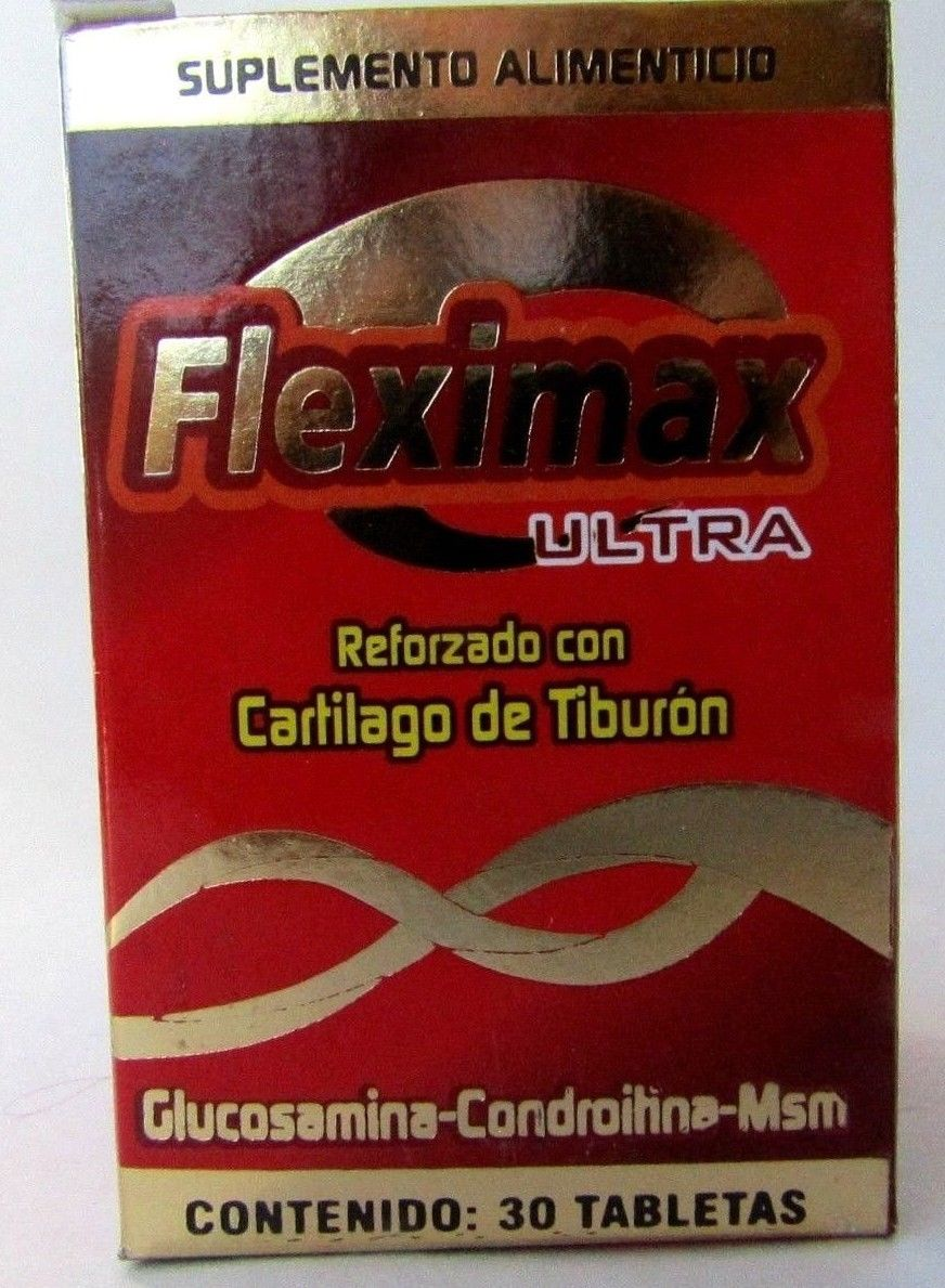 Cartílago de Tiburón 30 Tabletas.  Fleximax. Shark cartilage