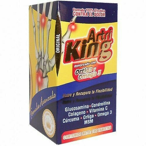 Artri King Reforzado con Ortiga y Omega Auxiliar de Artritis Improves mobility and normal functioning of joints Goodbye to pain