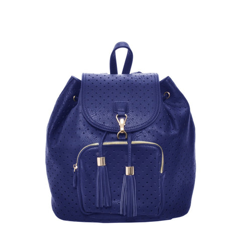 Mechaly Women's Jamie Blue Vegan Leather Backpack