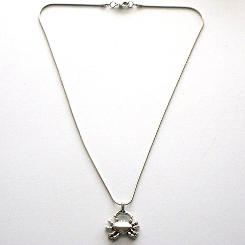 Crab Single Charm Necklace