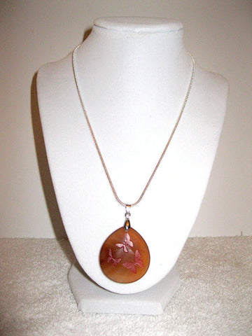 Amber Butterfly Authentic Stone Necklace