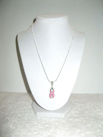 "18"" Pink Breast Cancer Awareness Charm Necklace"