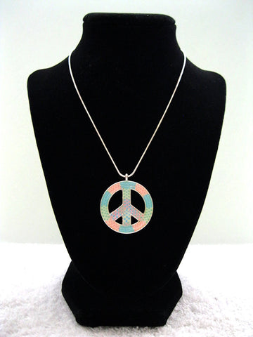 Dainty Pastel Peace Necklace