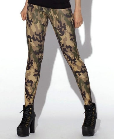 Limited Edition Women's Camouflage Spandex Leggings