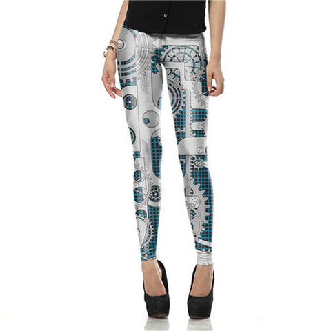 Mech Themed Women's High Waist Leggings
