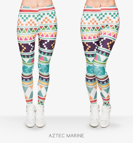 Zohra Fashion Aztec Print Casual Slim Fit Leggings