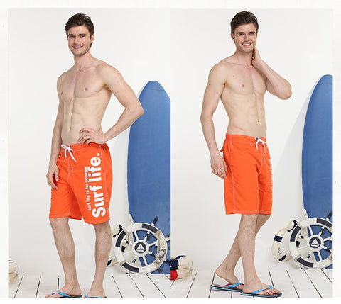 Surf Life Men's Quick Drying Board Shorts with Drawstring Closure
