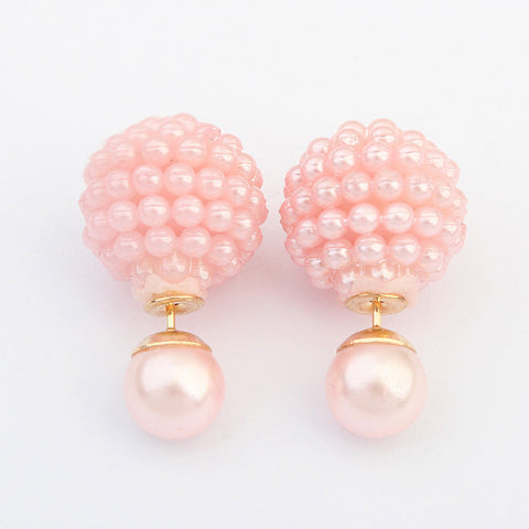 Imitation Pearl Fashion Stud Earrings