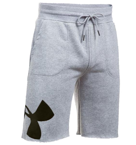 Men's UA Rival Fleece Exploded Logo Shorts - Grey - Gallery Store NZ | Tauranga