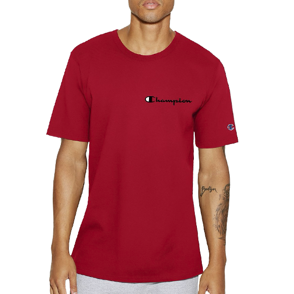 Champion Life™ Men's Heritage Tee Script  Red - Gallery Store NZ | Tauranga