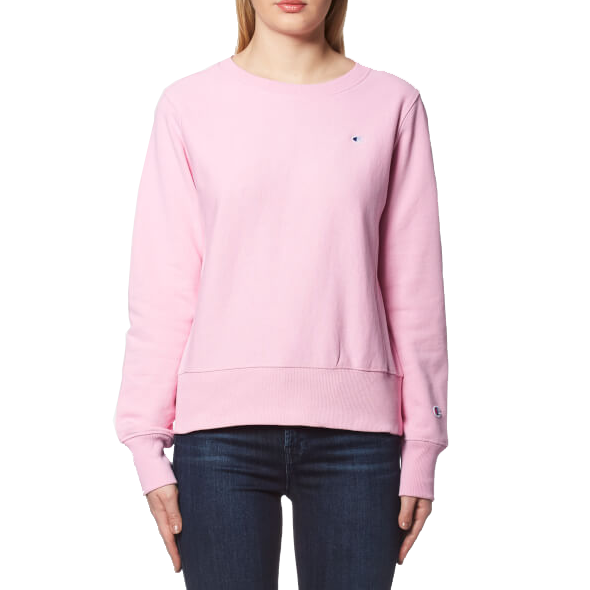Champion Life™ Women's Reverse Weave® Crewneck Sweater Pink