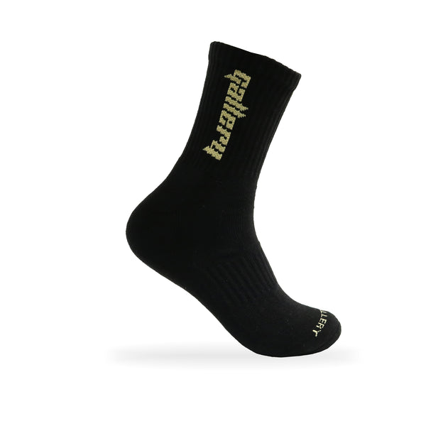 Gallery 'CALI' Socks - Black/ Tan - Gallery Store NZ | Tauranga