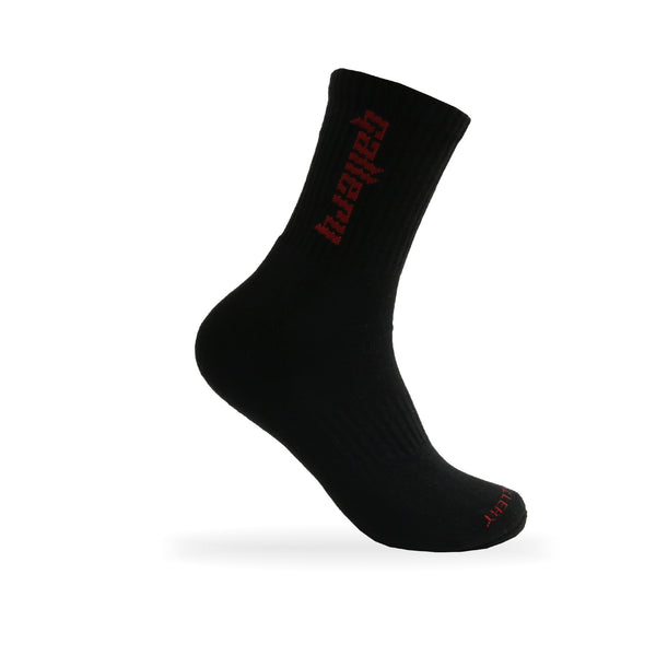 Gallery 'CALI' Socks - Black/ Maroon - Gallery Store NZ | Tauranga