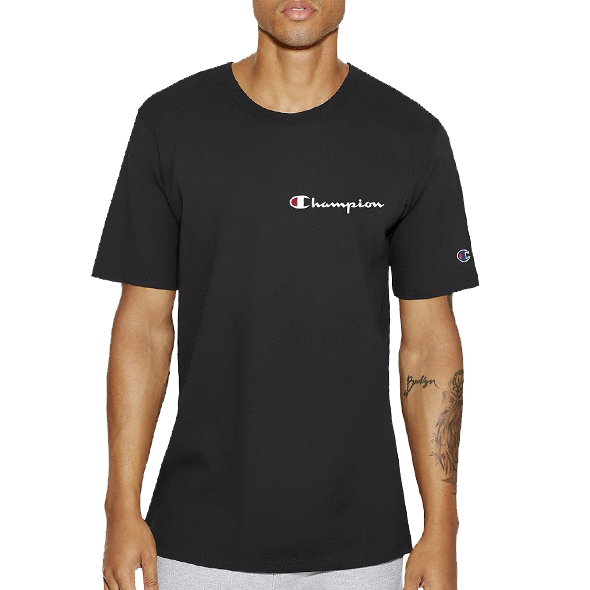 Champion Life™ Men's Heritage Tee Script Black