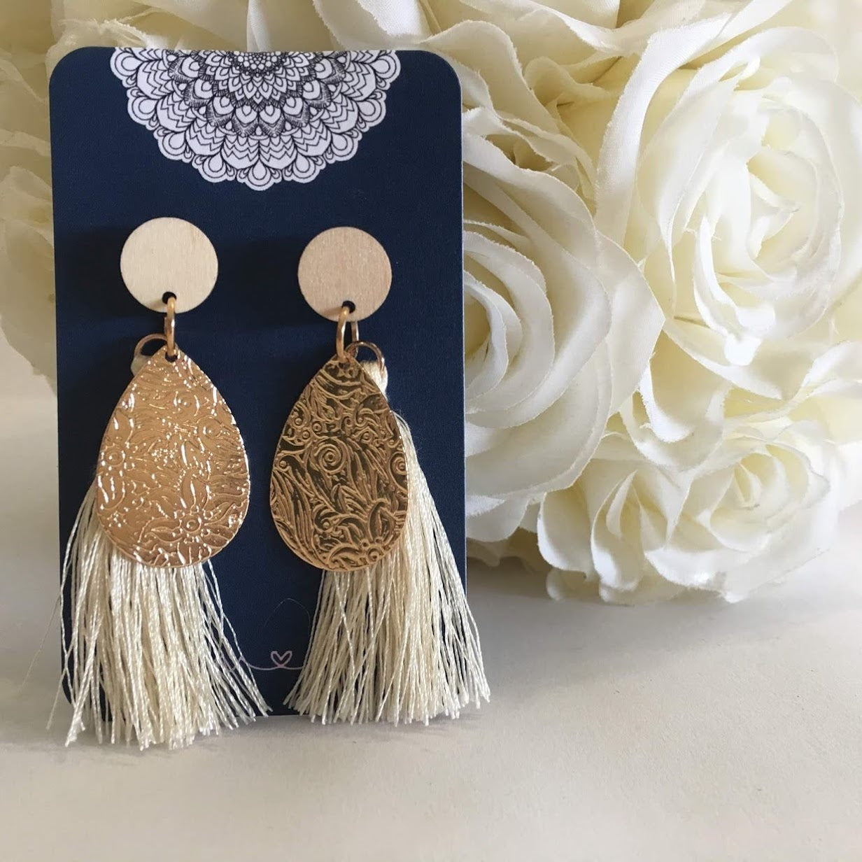 Tassel - Cream and Gold