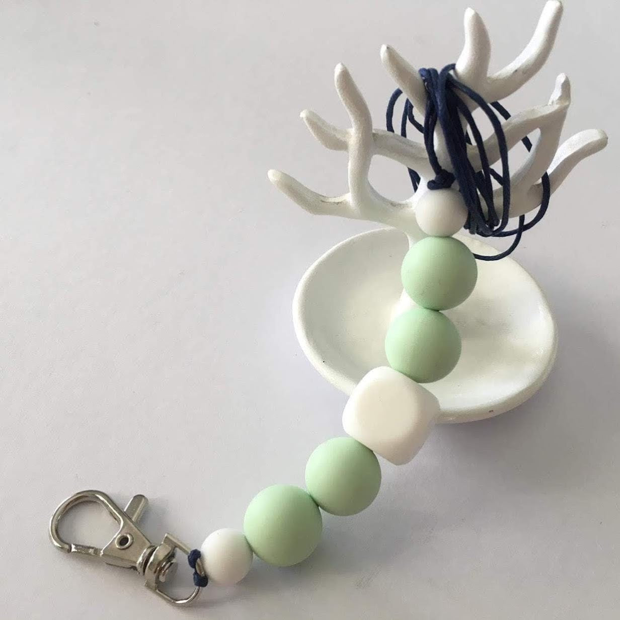 Lanyard - White and Mint