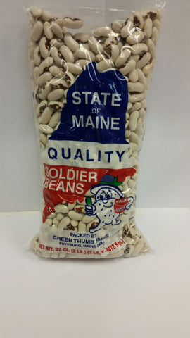 State of Maine Soldier Beans- 2lb(5 pack) Total 10Lbs FREE Shipping!
