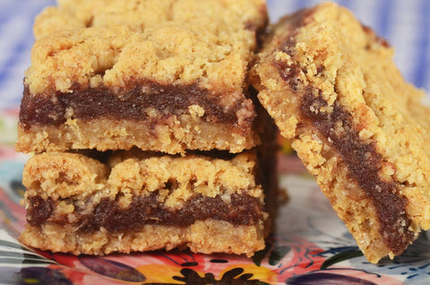 Maine Date Squares Two 8X8 Pans includes Free Priority Shipping