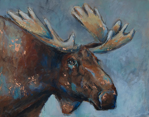 Moose Original Painting