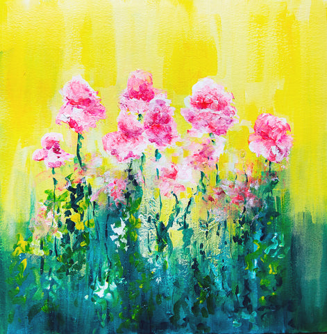 Bright PInk Poppy Painting