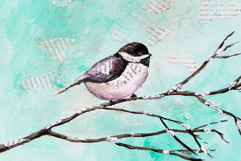 Chickadee Original Paintng