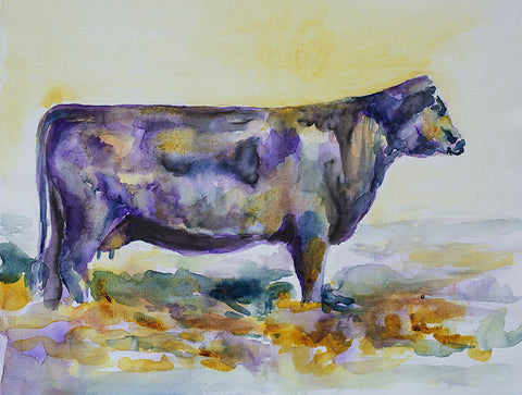 Purple Cow Original Painting