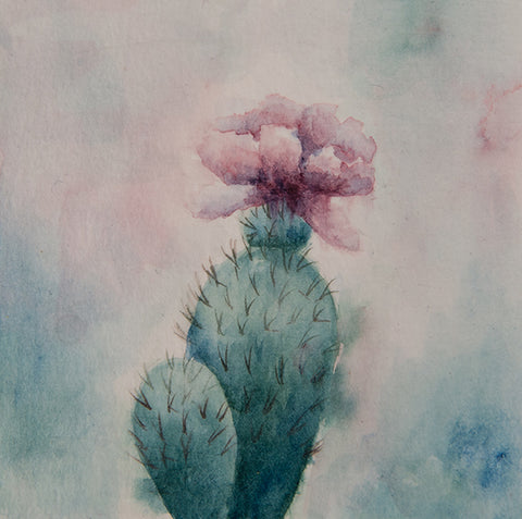 Dreamy Cactus 2 Original Painting