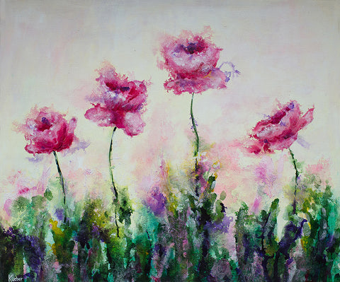 Dreamy Poppy Original Painting