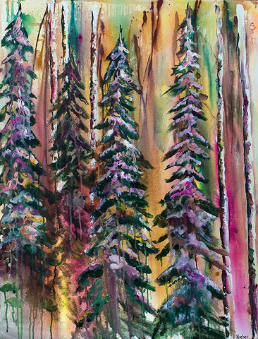 Energetic Forest Original Painting