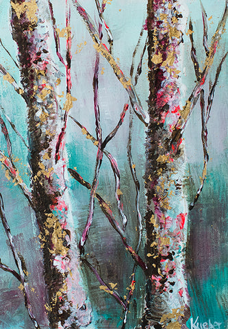 Winter Trees 3 Original Painting